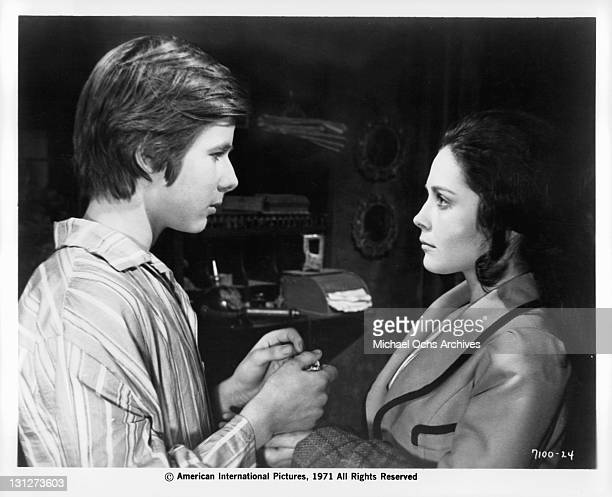 After further threats from Irene Cristina Galbo tries to escape and tells sympathetic John Moulder Brown of her plans in a scene from the film 'The...