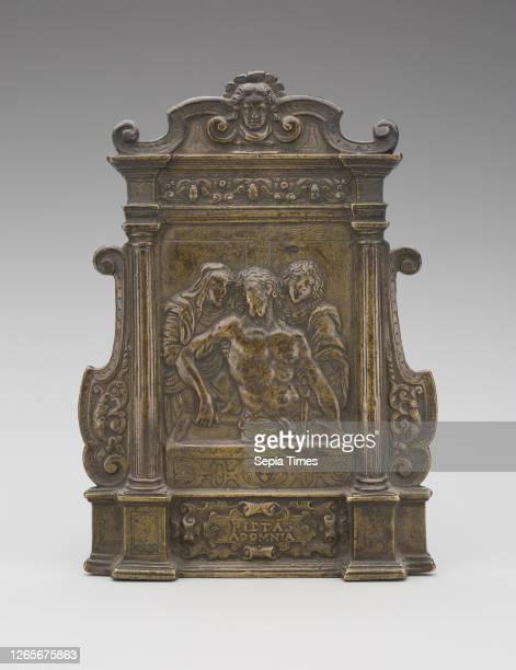 After Galeazzo Mondella, called Moderno, Italian, 1467-1528, Pieta, early 16th Century , bronze, 6 1/8 x 4 1/2 x 1 13/16 in..