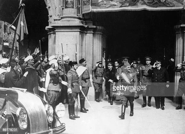 After General Franco held a formal reception for the first italian ambassador he is leaving his headquarters in Salamanca Besides Germany Italy is...