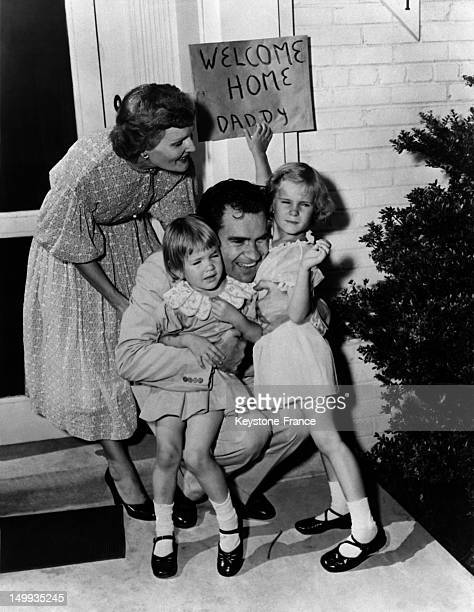 After he was nominated to be Dwight Eisenhower's Running Mate on the Republican Party Ticket Pat Nixon and her husband Senator Richard Nixon...