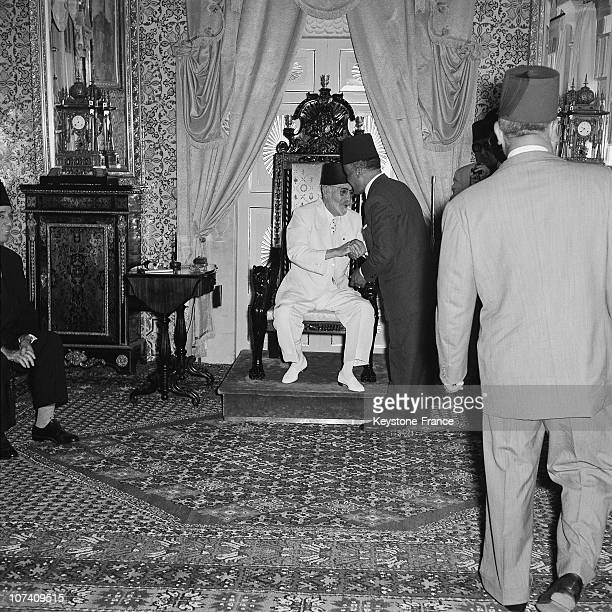 After His Triumphal Return Habib Bourguiba Is Receided By The Bey Of Tunis At The Carthage Palace On June 2Nd 1955