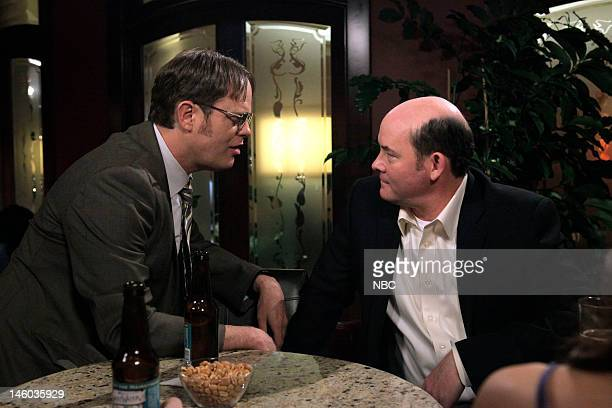 THE OFFICE After Hours Episode 816 Pictured Rainn Wilson as Dwight Schrute David Koechner as Todd Packer