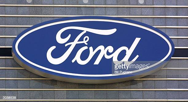 After its removal three years ago from Ford's letterhead and headquarters the Ford blue oval logo once again adorns one of the buildings at the Ford...