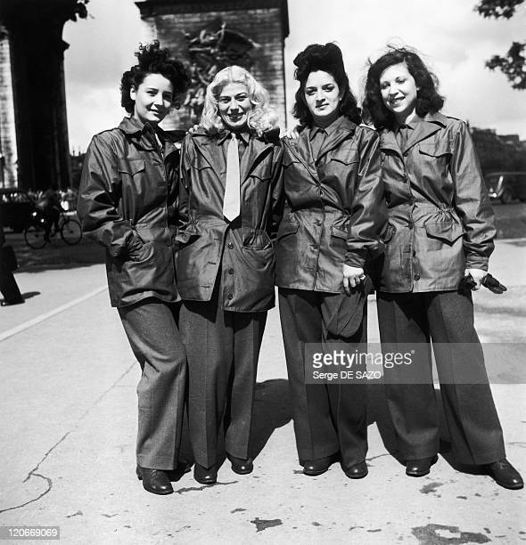 After Liberation In Paris France In 1945