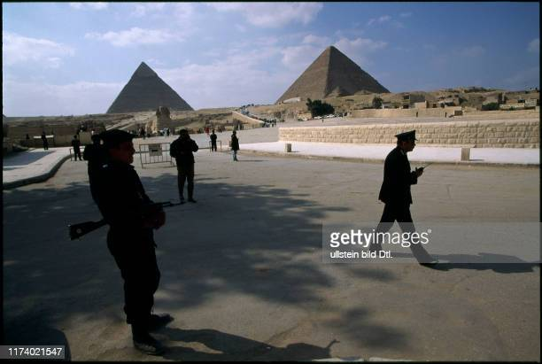 Police in front of the Pyramids