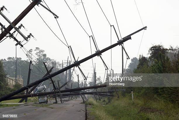After making landfall yesterday as a Category 3 hurricane just east of Sabine Pass Hurricane Rita left damaged high power transmission lines down...