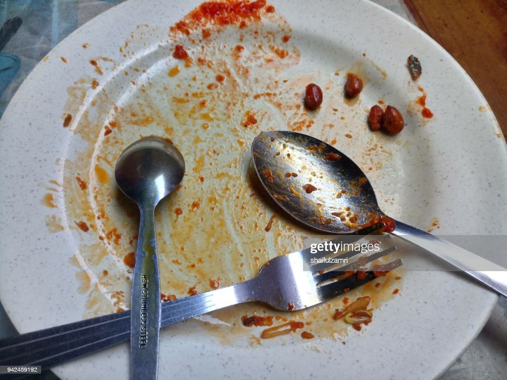 After meal : Stock Photo