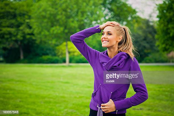 after morning exercises - izusek stock pictures, royalty-free photos & images