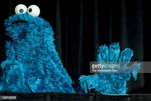 After panel discussions with leaders in early childhood education Washington Post Live's Mary Jordan is joined onstage by Cookie Monster and Michael...