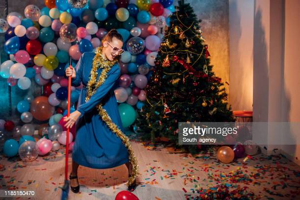 after party cleaning is fun - cleaning after party stock pictures, royalty-free photos & images