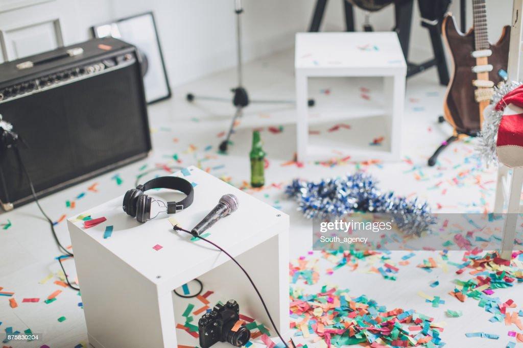 パーティの装飾後 : ストックフォト