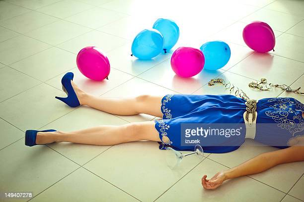 after party - drunk woman stock pictures, royalty-free photos & images