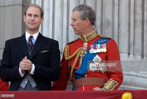 After Press Reports Of A Rift Between The Brothers Prince Charles Colonel Welsh Guards And His Brother Prince Edward Earl Of Wessex Talking On The...