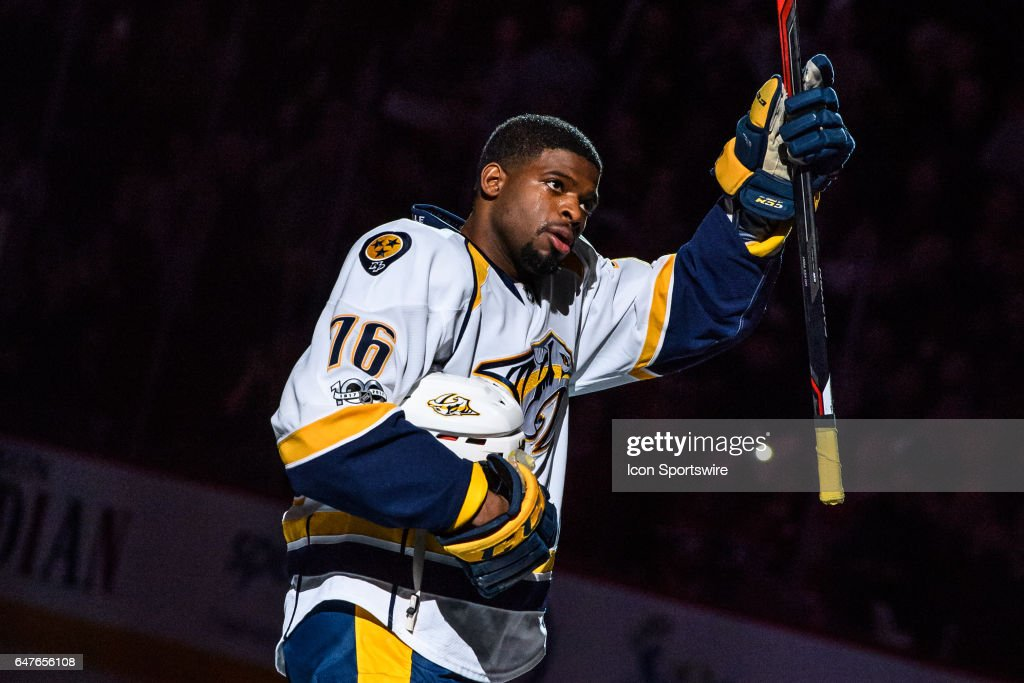 NHL: MAR 02 Predators at Canadiens : News Photo