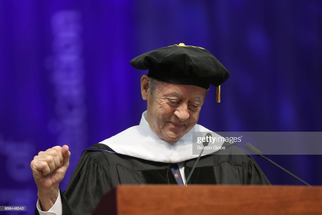 2018 Emerson College Commencement : News Photo