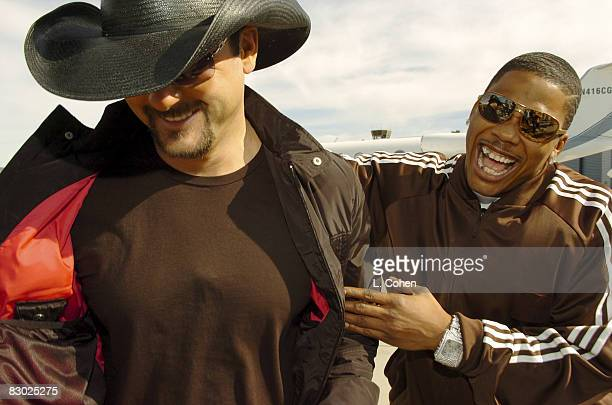 "After recording their mega hit ""Over and Over,"" Tim McGraw and Nelly hooked up again, this time to film a Budweiser commercial that may appear during..."
