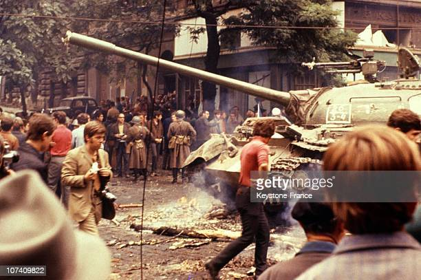 After repeat warnings the Red Army and the troops of four other member countries of the Warsaw Pact invaded Czechoslovakia beginning August 20 and 21...