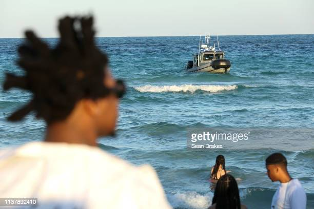 After reports of raucous behavior and crime Miami Beach Police Department deployed officers to perform surveillance from boats as thousands of...
