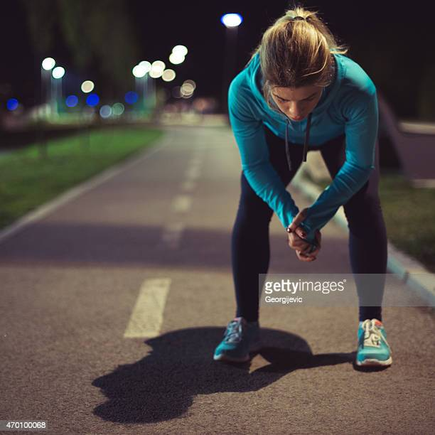 After running
