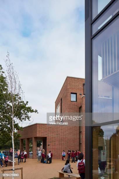 After school pick-up area. Highgate Shool, London, United Kingdom. Architect: Architype Limited, 2016.