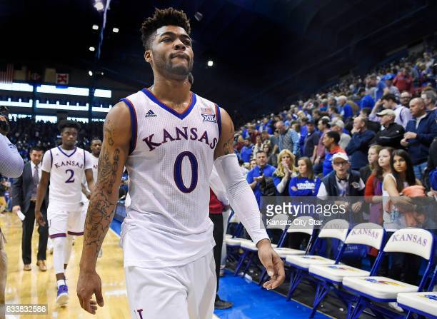 After scoring a gamehigh 32 points an exhausted Frank Mason leaves the court after a 9289 loss in overtime against Iowa State at Allen Fieldhouse in...