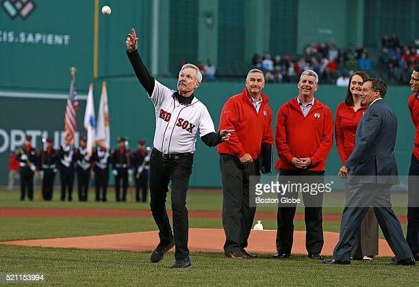 After Secretary of the US Navy Ray Mabus presented the Distinguished Public Service Award to Boston Red Sox chairman Tom Werner in recognition of the...