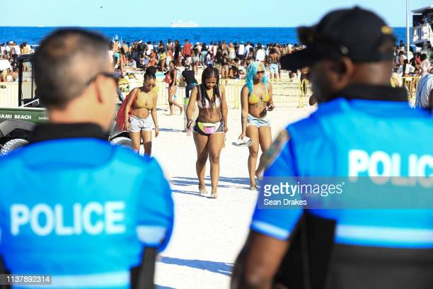 After several crimes and reports of raucous behavior Miami Beach Police Department dispatched 301 officers to deter misconduct as thousands of...