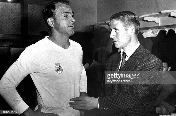 After Signing With The Real De Madrid, Raymond Kopa Attended The Game Opposing His Team Featuring Alfredo Di Stefano And Sevilla'S Team On September...