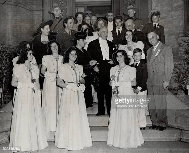 After singing at the Marian Congress in Ottawa Canada's famous five the Dionne quintuplets called on Premier King Mother of the girls Mrs Dionne is...