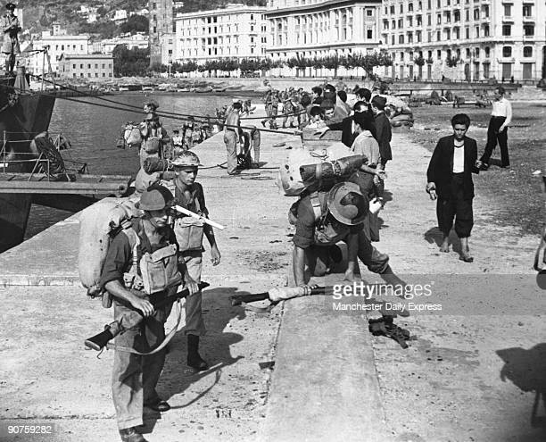 After some extremely bitter fighting over several days the capture of the port of Salerno by the Fifth Army was announced in the Allied communique of...