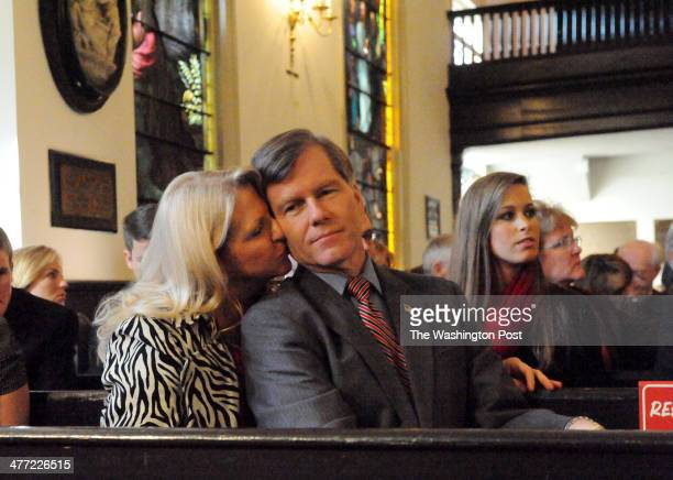 After speaking to an audience at St John's Church Govelect Bob McDonnell takes his seat next to his wife Maureen Virginia General Assembly and...