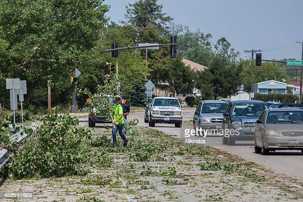 after storm street cleanup