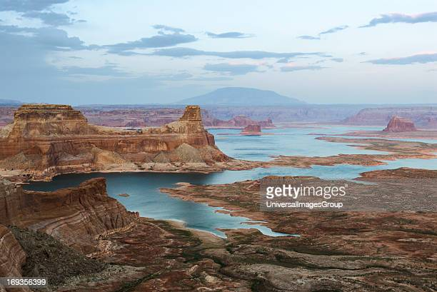 After sunset at Lake Powell from Ramana Mesa A part of the Glen Canyon National Recreation Area spread across parts of northern Arizona and southern...