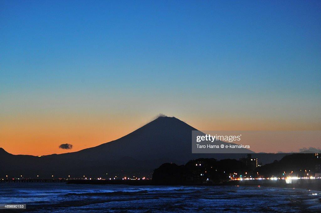 After sunset Mt.Fuji : Stock Photo