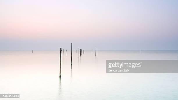 After sunset on lake Markermeer