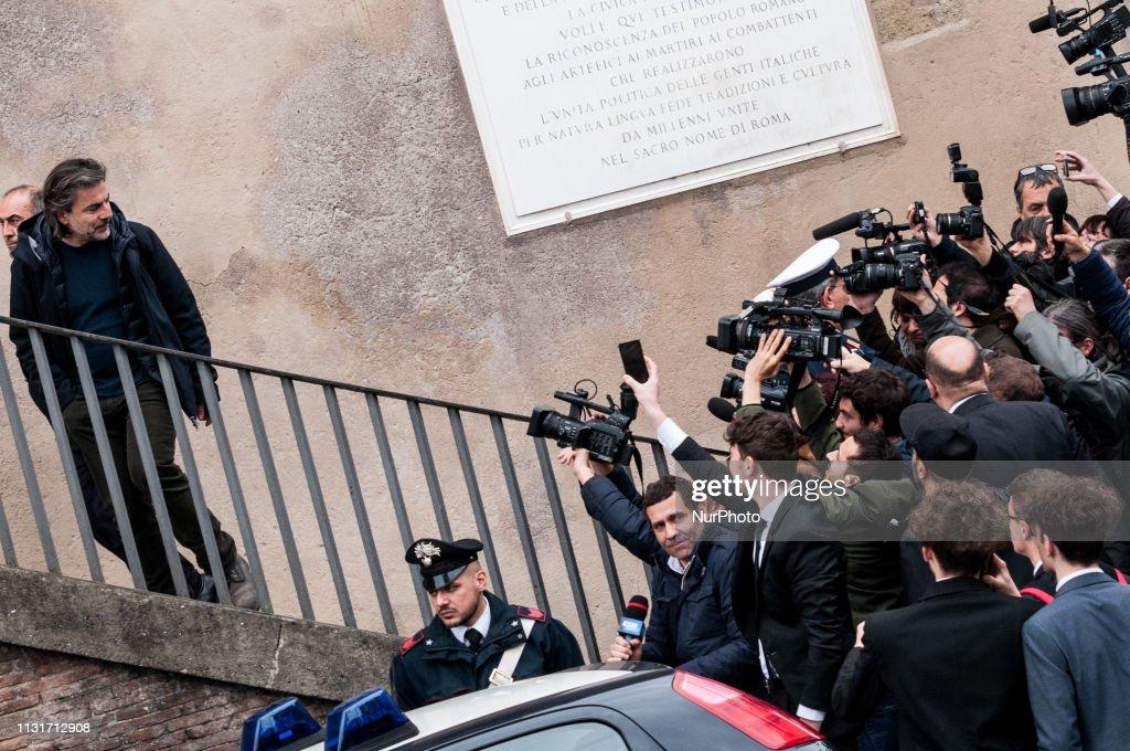 ITA: Arrested Marcello De Vito, President Of The Capitoline Assembly