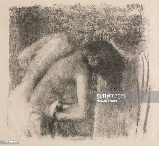 After the Bath , 1891-1892. About 1876 Degas began to make lithographs with which he attained a rich tonality using only black and white. As with...