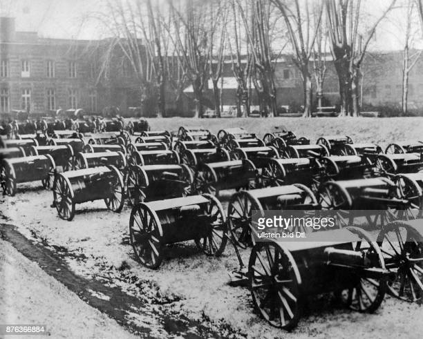 After the battle of Cambrai English cannons seized by German troops