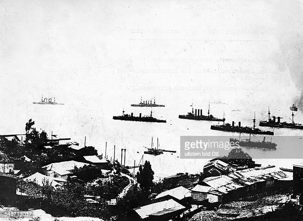 After the Battle of Coronel off the coast of central Chile on 1 November 1914 the German cruiser squadron under Admiral Graf Spee is leaving the port...