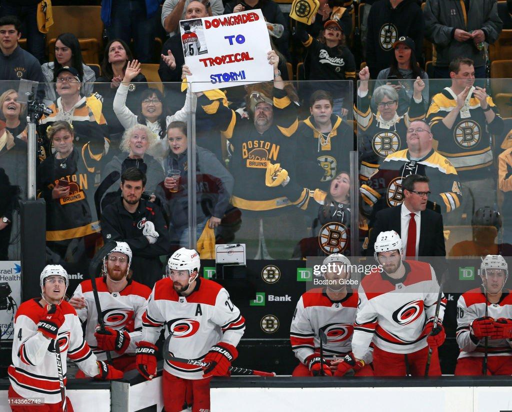 2019 Stanley Cup Playoffs: Carolina Hurricanes Vs Boston Bruins At TD Garden : News Photo