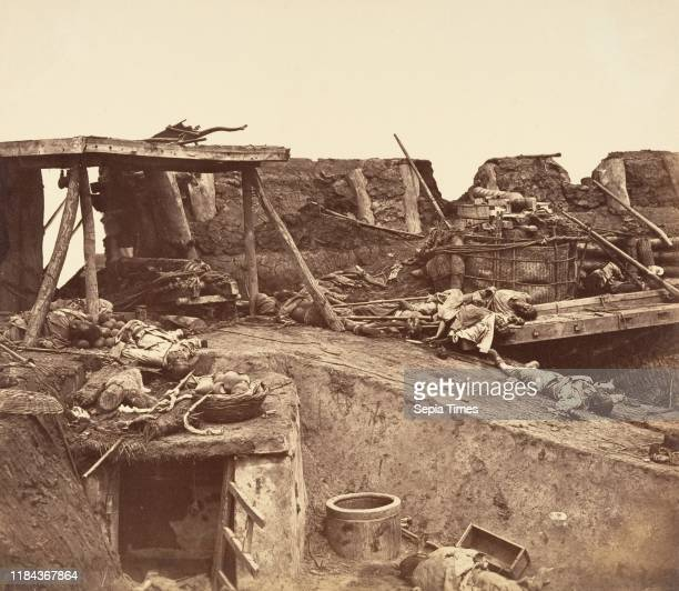 [After the Capture of the Taku Forts] Albumen silver print from glass negative Image 26 x 299 cm Photographs Felice Beato British Venice 18321909...