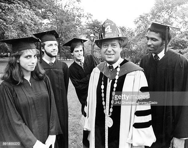 After the commencement ceremony four graduates including politician and MSNBC analyst Michael Steele and Arts and Science graduate Robert Friedman...