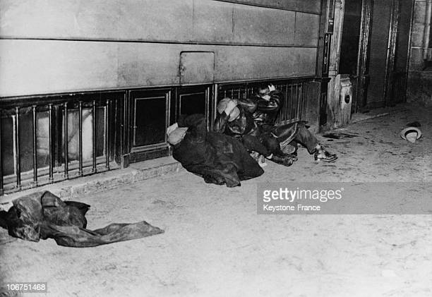 After The Communist Demonstration Of February 9Th Against The February 6Th Riot The Casualties Are Lying On The Pavement On February 10Th 1934