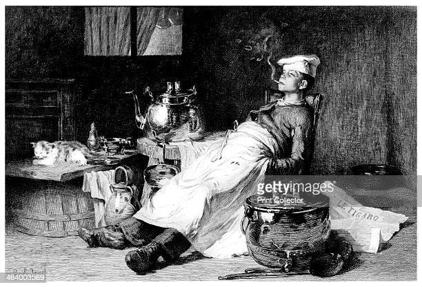 'After the Day's Work' 1895 A print from The Magazine of Art Cassell and Company Limited London Paris and Melbourne 1895