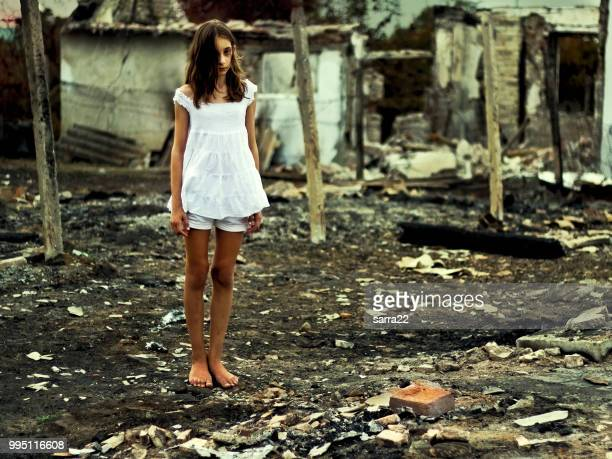 after the disaster - ruined stock pictures, royalty-free photos & images