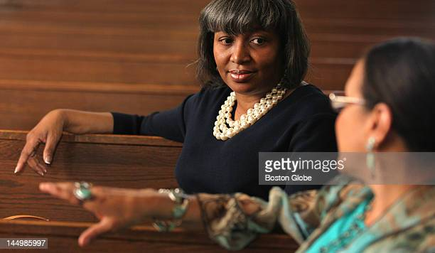 After the end of service at Grant AME Church on Sunday May 20 Nathine Washington left and Fern CunninghamTerry talk about Donna Summer who once...