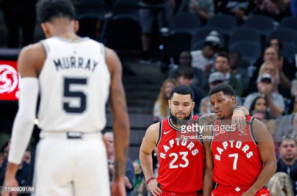 After the first two possessions both teams took planned turnovers as the crowd chanted KOBE as Fred VanVleet of the Toronto Raptors and Kyle Lowry...