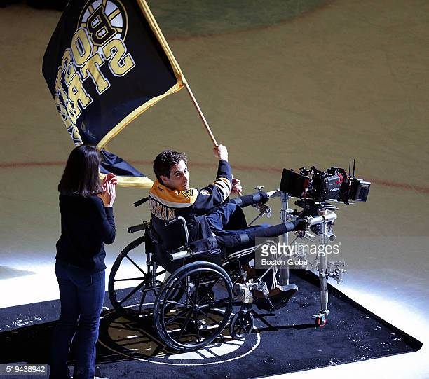 After the game between the Boston Bruins and the Carolina Hurricanes at TD Garden in Boston on April 05 actor Jake Gyllenhaal, portrays Jeff Bauman,...
