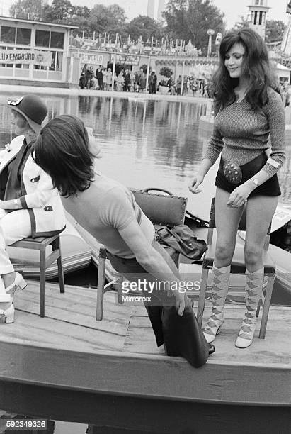 After the kiss he fell backwards into the boating pool 10th June 1972