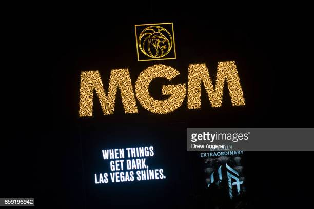 After the marquees on the Las Vegas Strip went dark for 11 minutes a tribute message for the victims of the Route 91 Harvest country music festival...